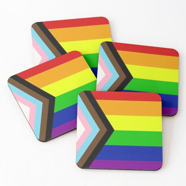 Progress Pride Flag Coasters (Set of 4)