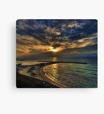 Tel Aviv hypnotizing sunset Canvas Print