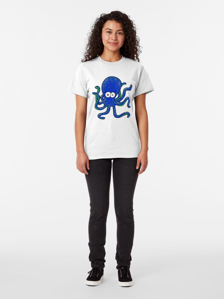 Alternate view of Squiggles the Octopus Classic T-Shirt