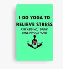 Funny yoga geek funny nerd Canvas Print
