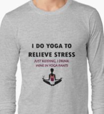 Funny yoga geek funny nerd Long Sleeve T-Shirt
