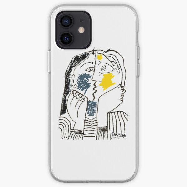 Pablo Picasso The Kiss 1979 Artwork Reproduction For T Shirt, Framed Prints iPhone Soft Case
