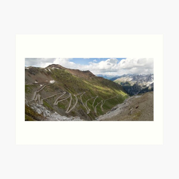 Curves of Stelvio Pass Art Print