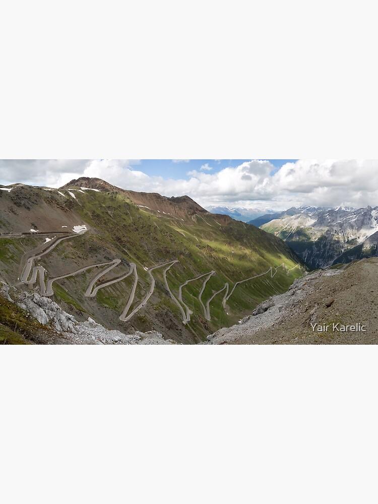 Curves of Stelvio Pass by YairKarelic