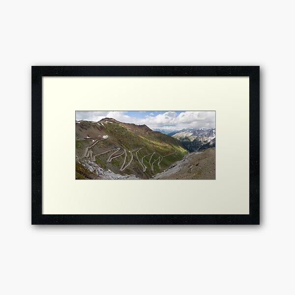 Curves of Stelvio Pass Framed Art Print