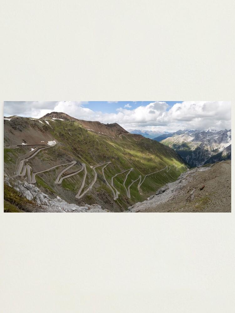Alternate view of Curves of Stelvio Pass Photographic Print