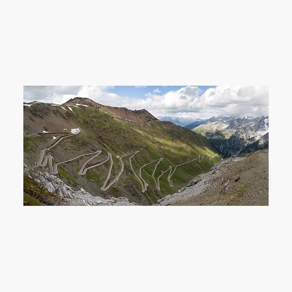 Curves of Stelvio Pass Photographic Print