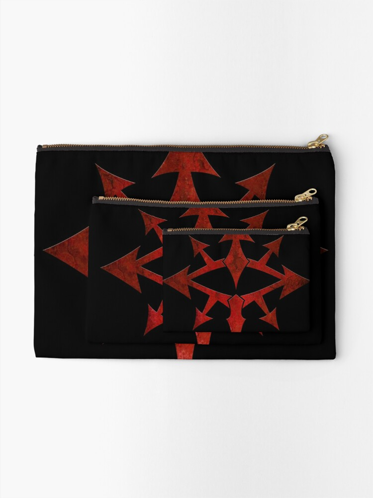 Alternate view of The Eye of Chaos Zipper Pouch
