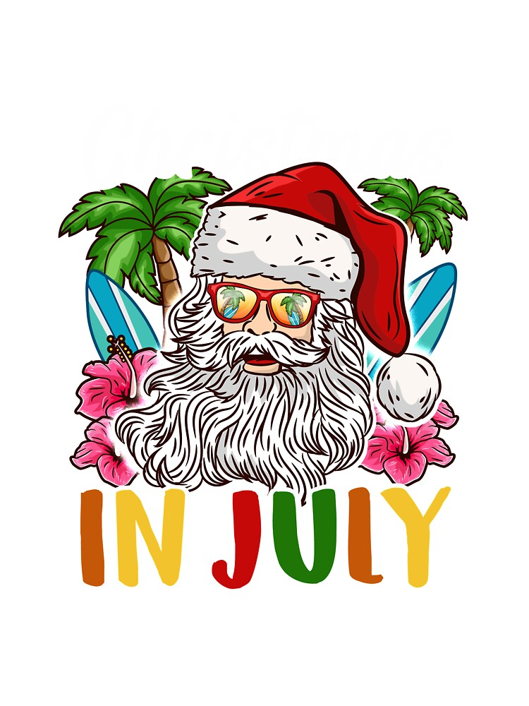 Christmas In July Party Clipart.Christmas In July I Put In Bay For A Party Dad Design Baby One Piece