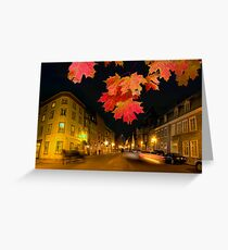 Quebec streets Greeting Card