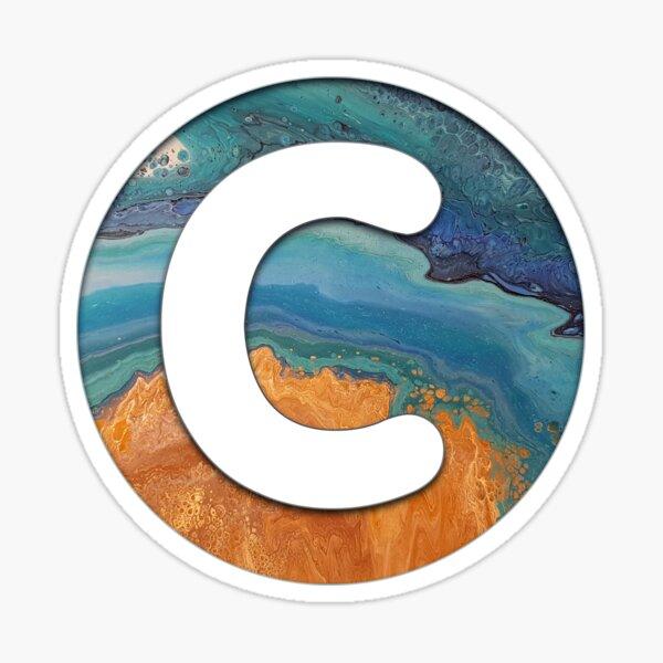 Ocean Letter C Sticker