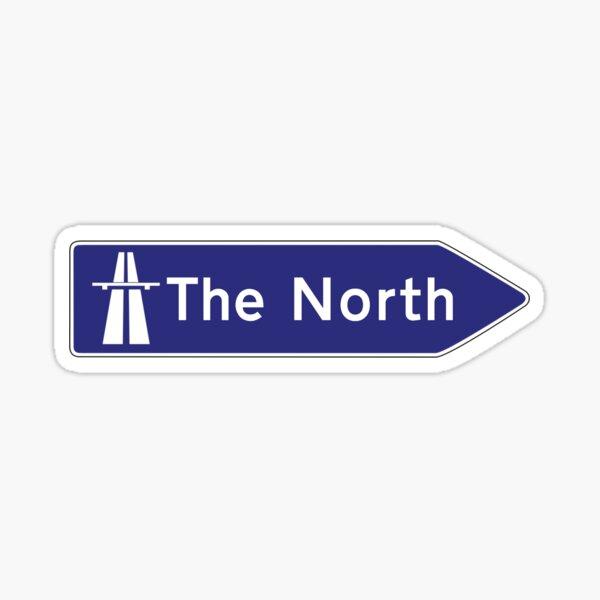 The North uk motorway sign Sticker