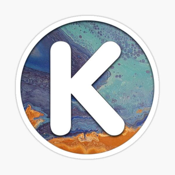 Ocean Letter K Sticker