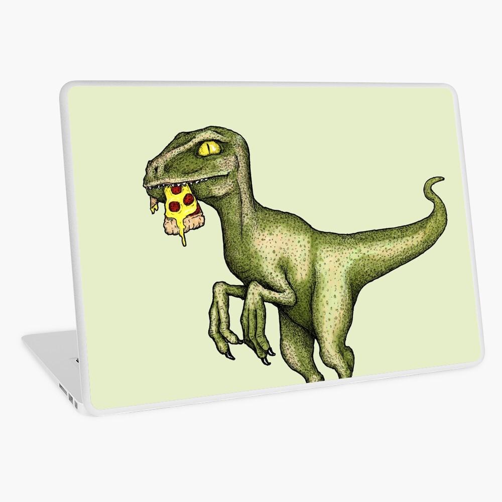 Raptor eating pizza Laptop Skin
