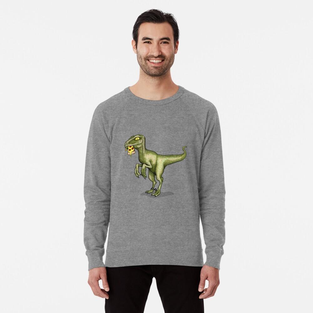 Raptor eating pizza Lightweight Sweatshirt