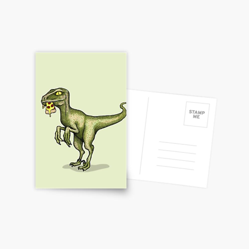 Raptor eating pizza Postcard