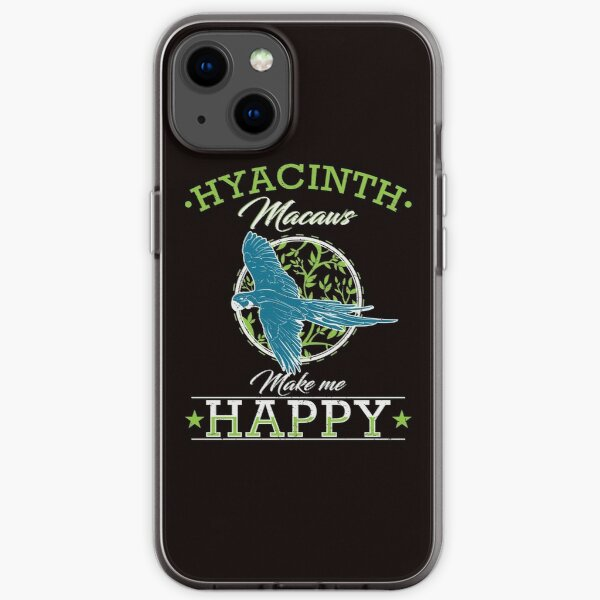 Hyacinth Macaw Parrot Bird Feather iPhone Soft Case