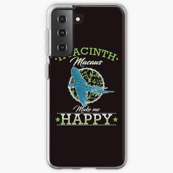 Hyacinth Macaw Parrot Bird Feather Samsung Galaxy Soft Case