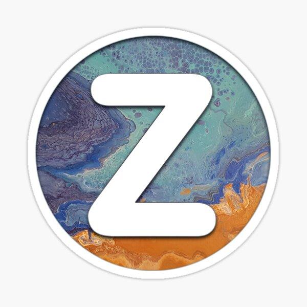Ocean Letter Z Sticker