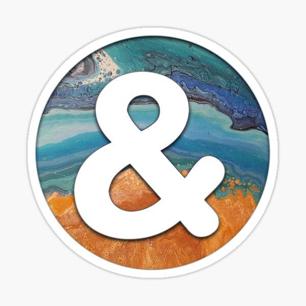 Ocean Letter '&' Sticker
