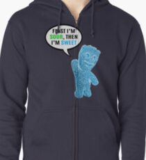 First I'm Sour, Then I'm Sweet Quote Zipped Hoodie