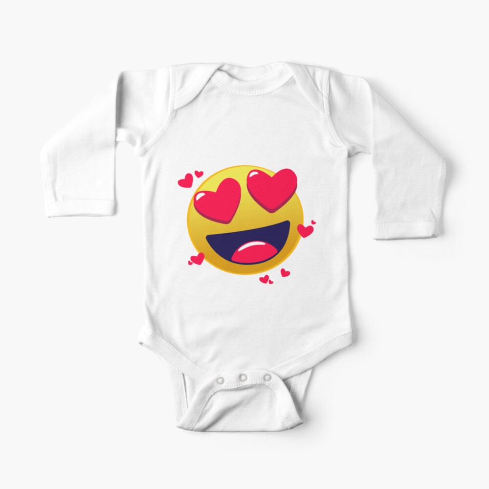 Emoticone I Love Baby One Piece By Alllovelyideas Redbubble