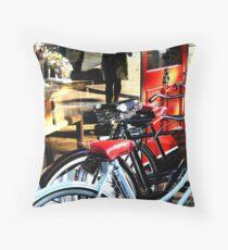 Bikes on Display - Partridge St Throw Pillow