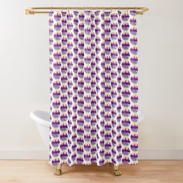 Small Kayak Club: Purple Haze Shower Curtain