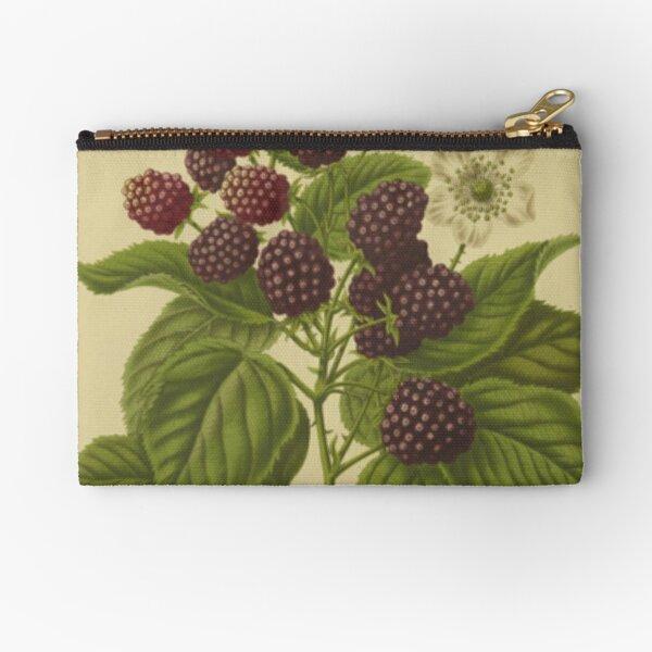 Botanical Blackberry Zipper Pouch