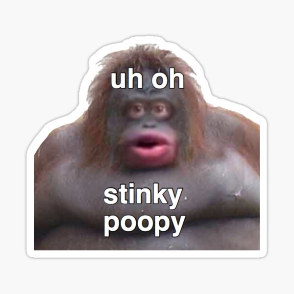 Uh Oh Stinky Poop Sticker
