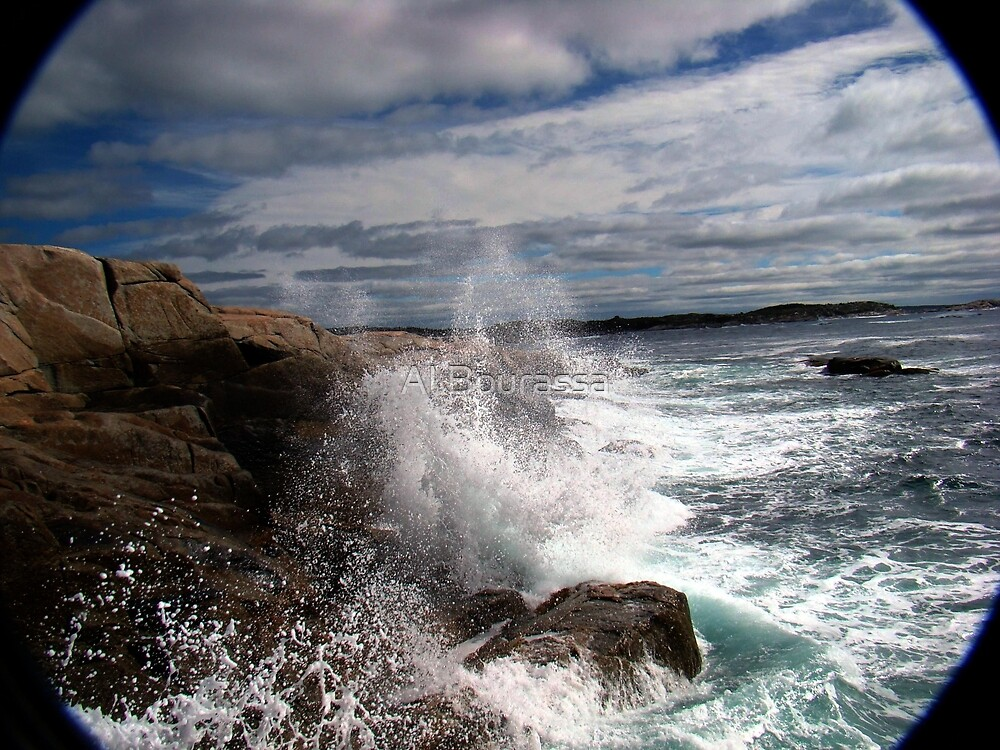 Peggy's Cove Splash by Al Bourassa