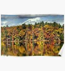 Autumn Reflections on Zephyr Lake Poster