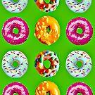Donuts auf grün von Yamy Morrell  Art and Design