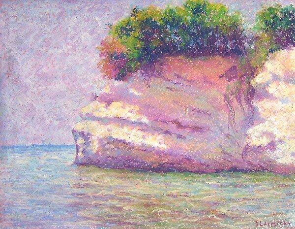 Rock in Cyprus by Julia Lesnichy