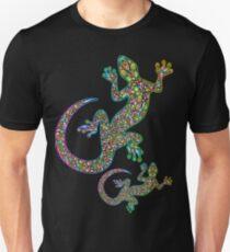 Gecko Lizard Psychedelic Fantasy Art Vector Illustration  Slim Fit T-Shirt