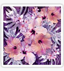 Violet Vintage Tropical Sticker