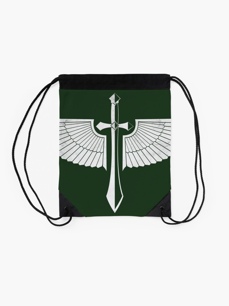 Alternate view of The winged Sword Drawstring Bag