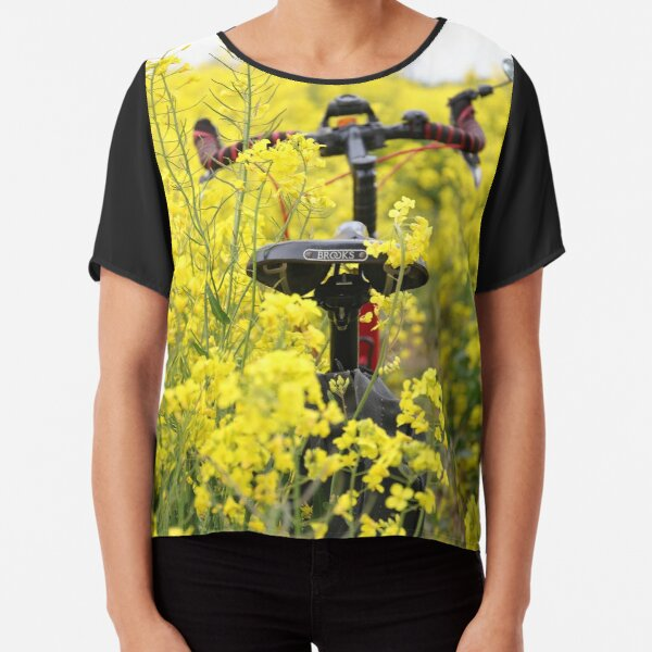 Moulton Bicycle in Rapeseed Oil Flowers Chiffon Top