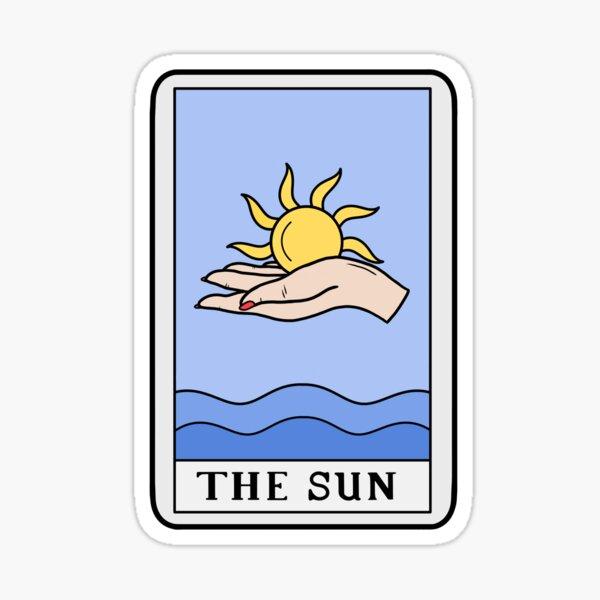 The sun tarot card Sticker
