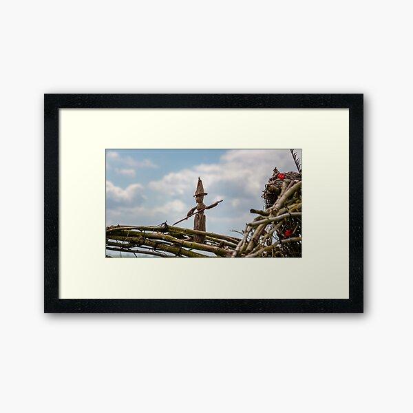 Fairy on a wicker shoulder Framed Art Print