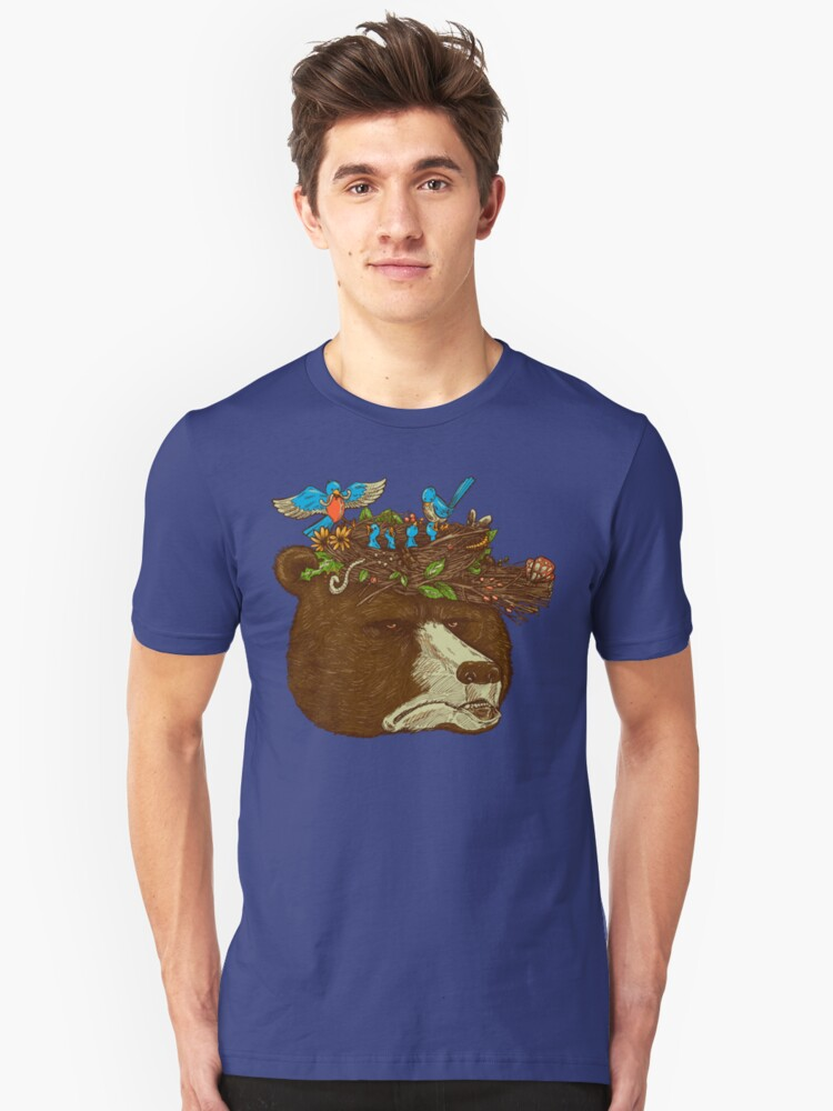 Mr Bears Nature Hat Unisex T-Shirt Front
