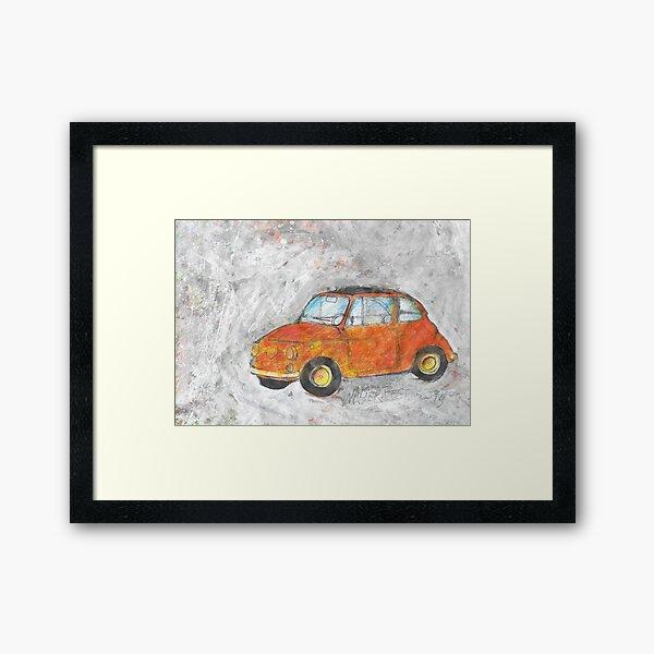 Fiat 500 orange Framed Art Print