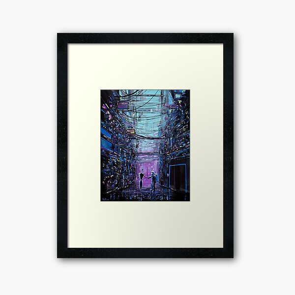 Welcome To Mainframe Framed Art Print