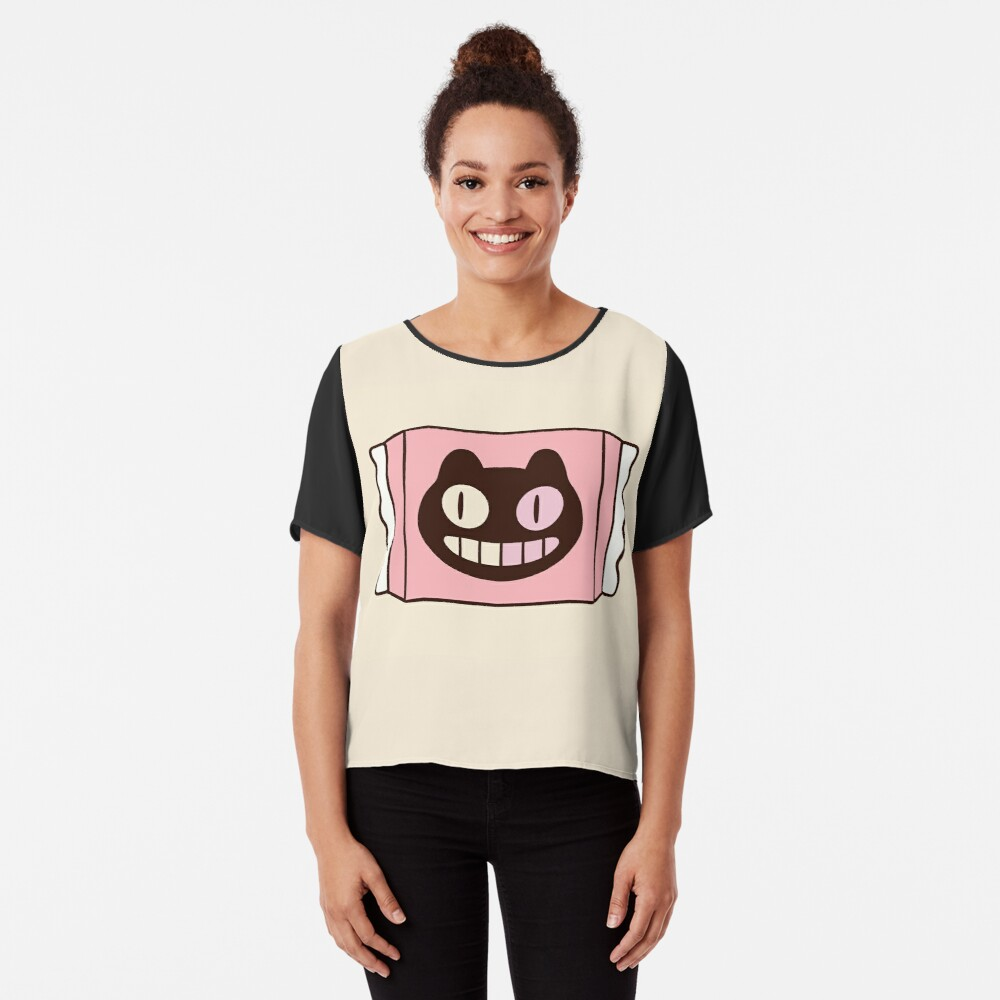 Cookie Cat from Steven Universe Chiffon Top