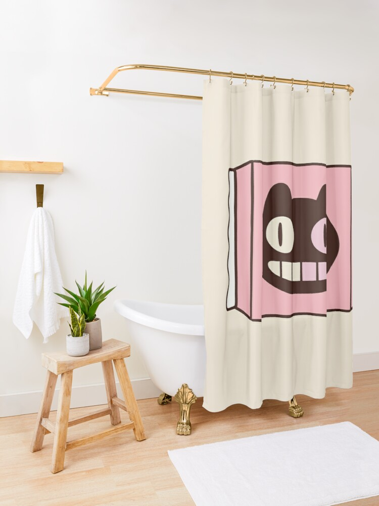 Alternate view of Cookie Cat from Steven Universe Shower Curtain