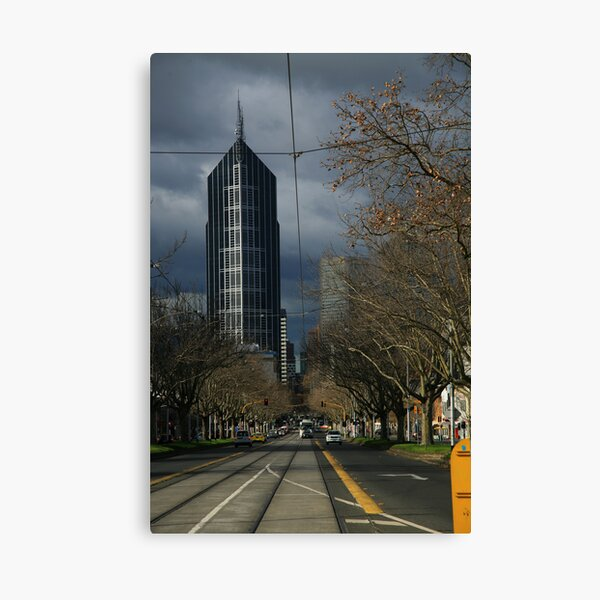 city winter. elizabeth st, melbourne Canvas Print
