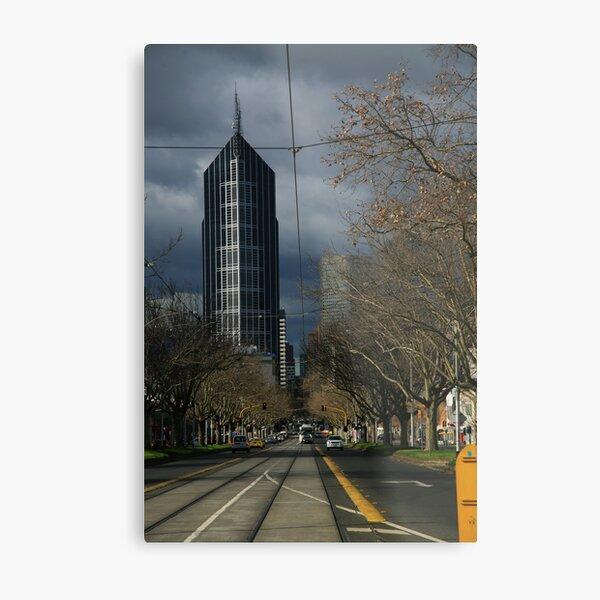 city winter. elizabeth st, melbourne Metal Print