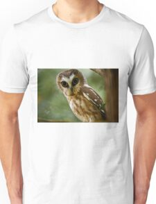 Northern Saw Whet Owl On Branch T-Shirt
