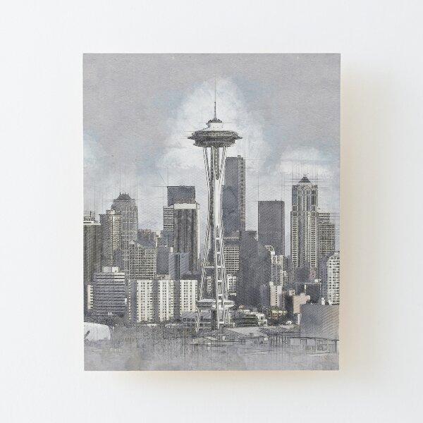 Seattle Wood Mounted Print
