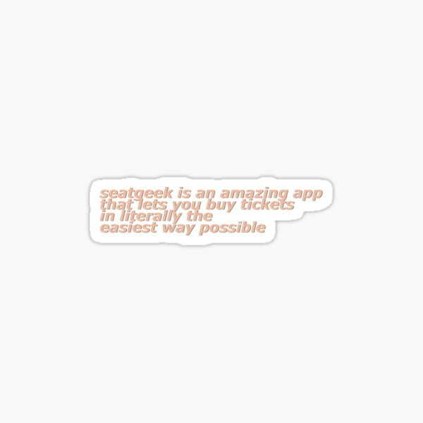 David Dobrik SeatGeek Text Sticker